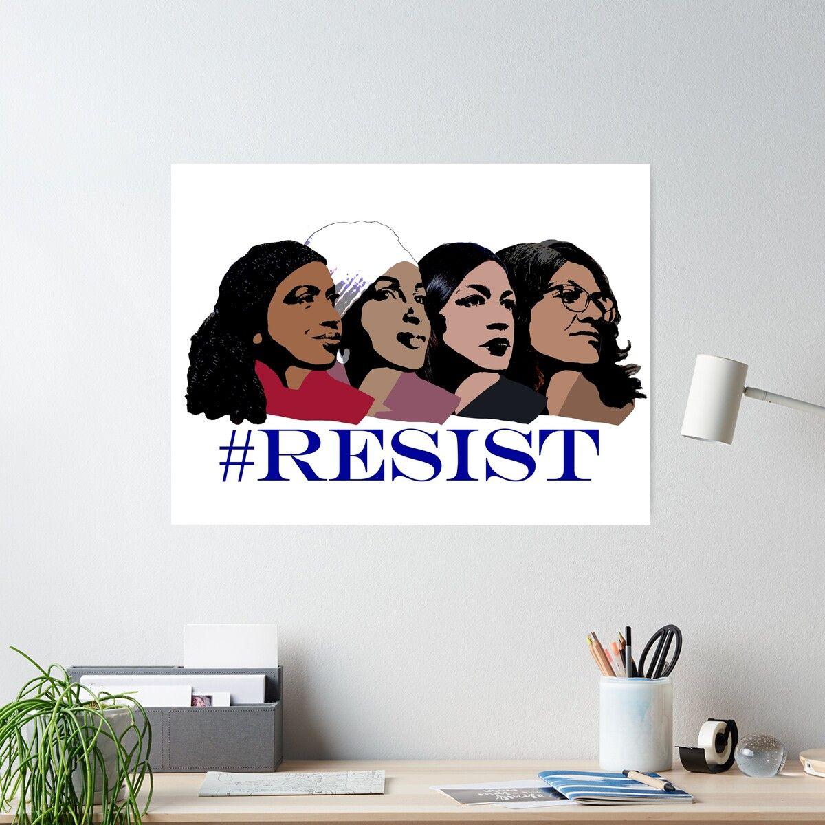 'Resist ft. Congresswomen of Color' Poster by Voytkostudios