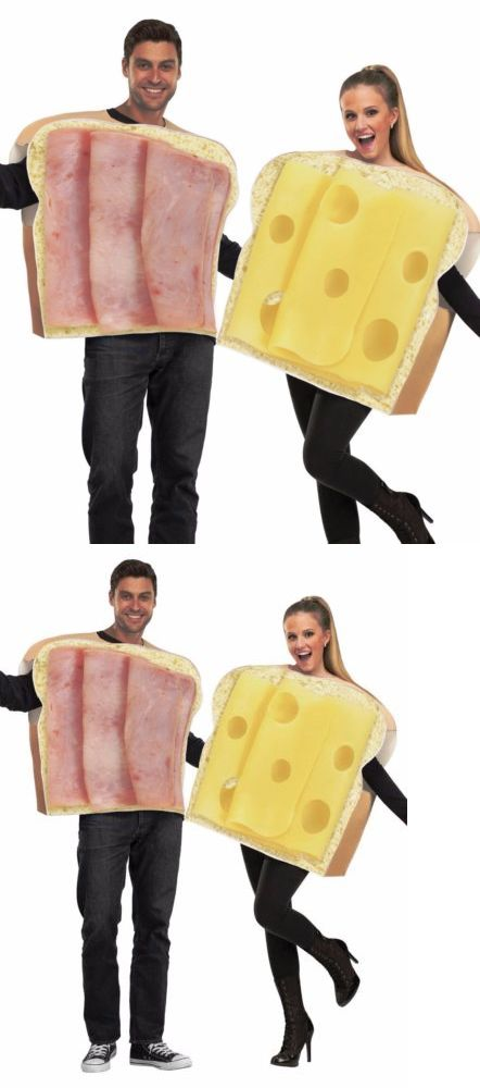 Halloween Costumes Adult Couples Ham And Swiss Cheese Costumes - food halloween costume ideas