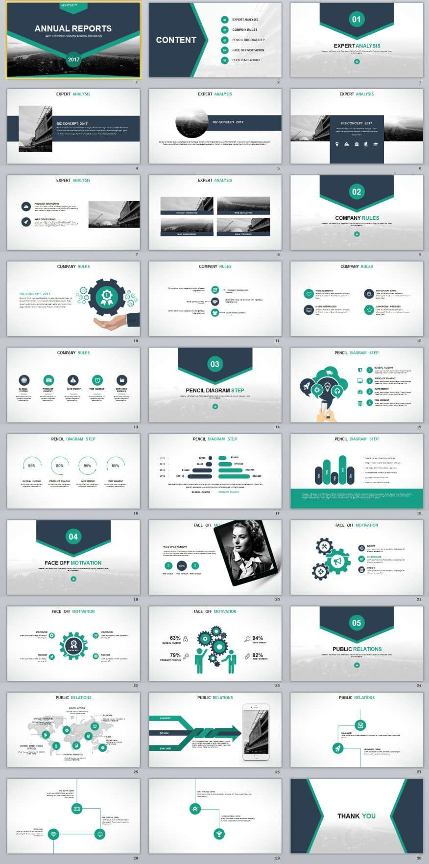 30 slide blue annual report powerpoint templates 0 pinterest