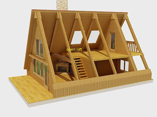 A frame cutaway tiny home pinterest cutaway cabin for A frame house characteristics