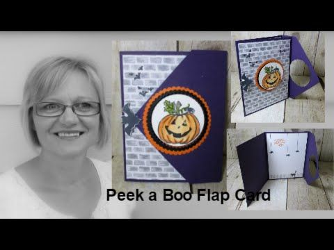 Peek A Boo Flap Card How To Video Folded Cards Cards Fun Fold