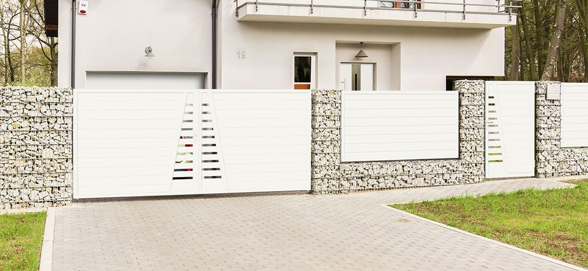 Privacy screen 1-wing plastic gate – white    TYPE 2    Up to B200 …