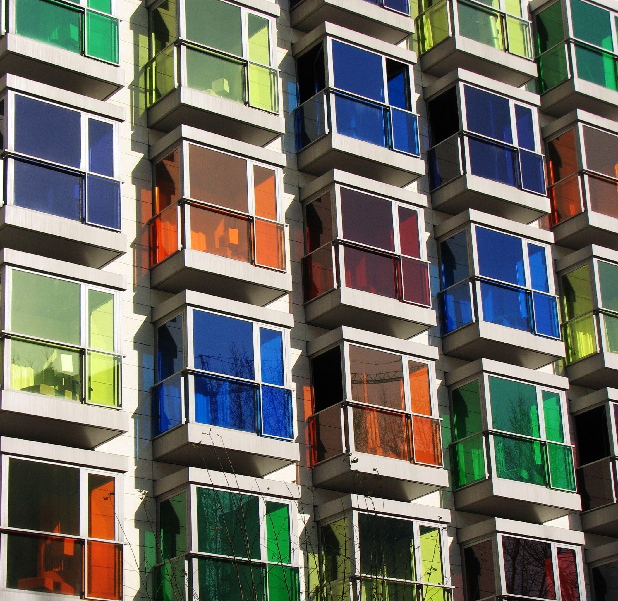 Colourful Window Bo Are The Trademark Of Hesperia Bilbao Hotel