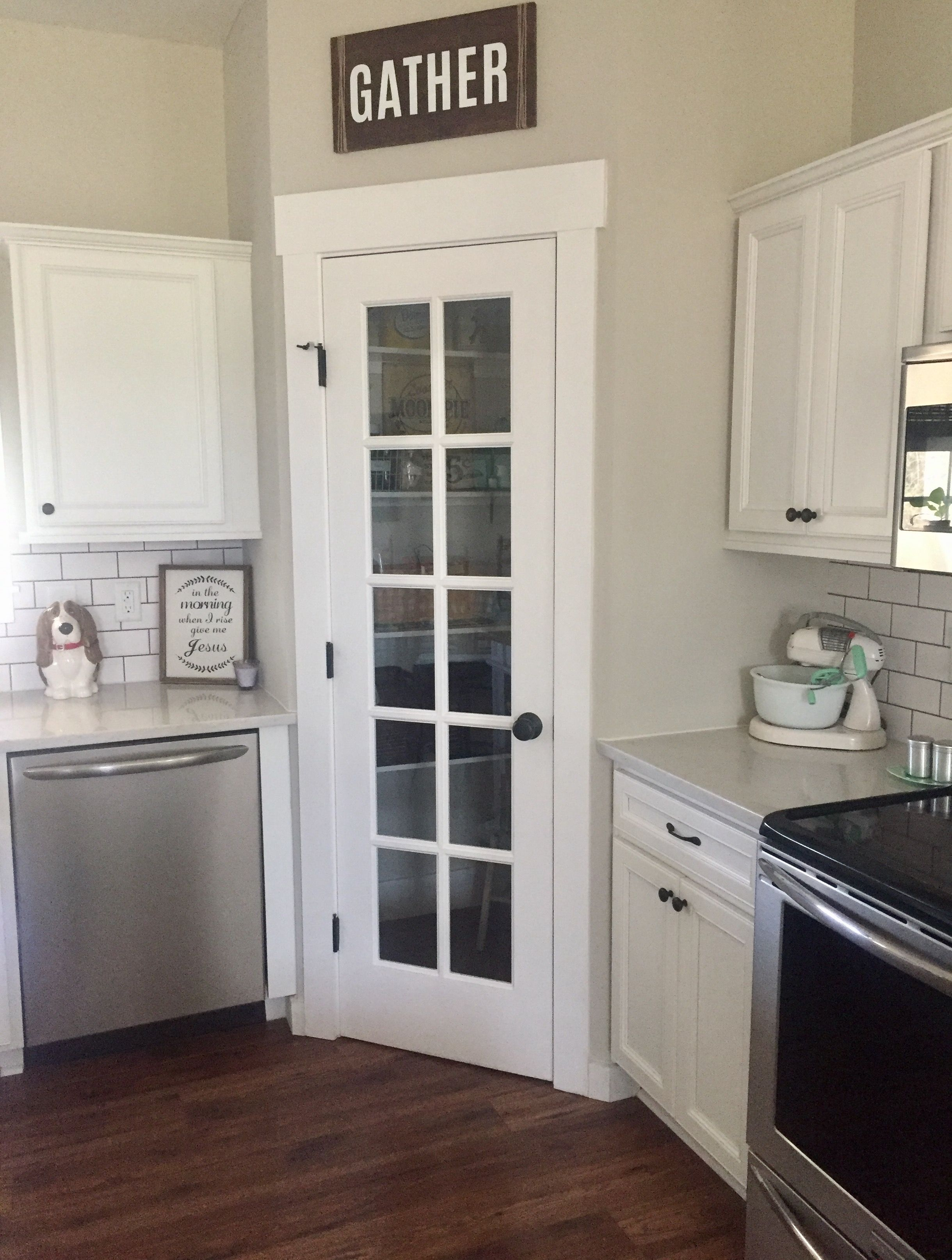 Corner pantry kitchen design layout