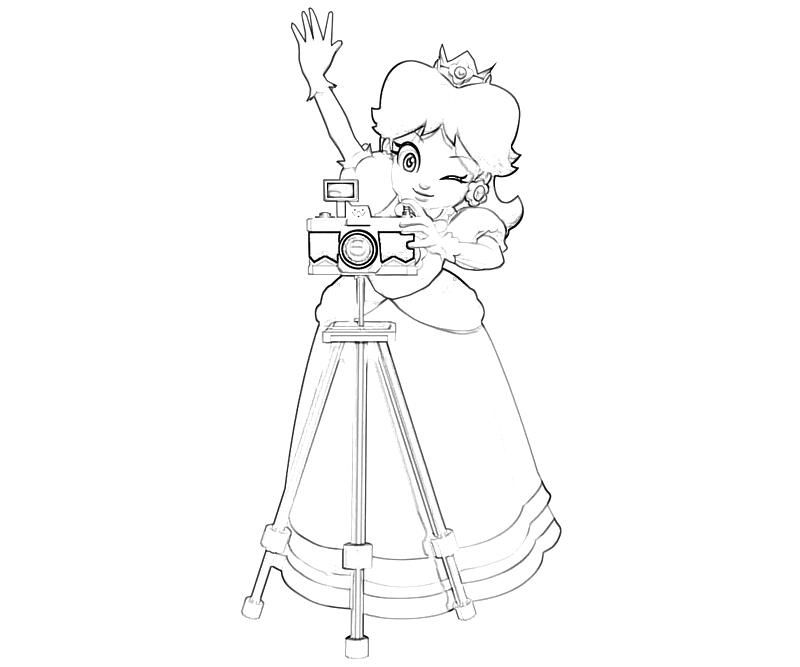 Super Paper Mario Daisy Coloring Pages For Boys