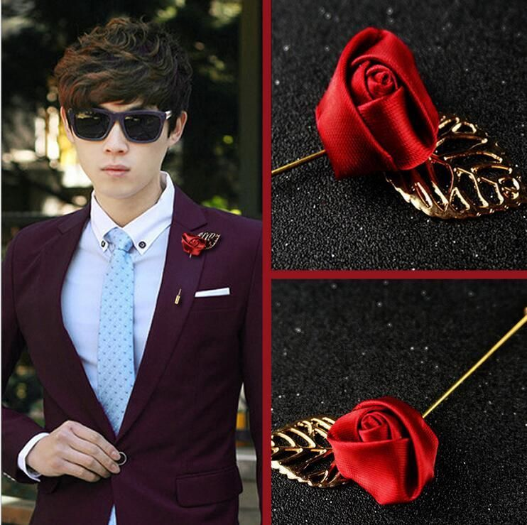 2016 most popular rose flower elegant suit pin brooch. | Man ...