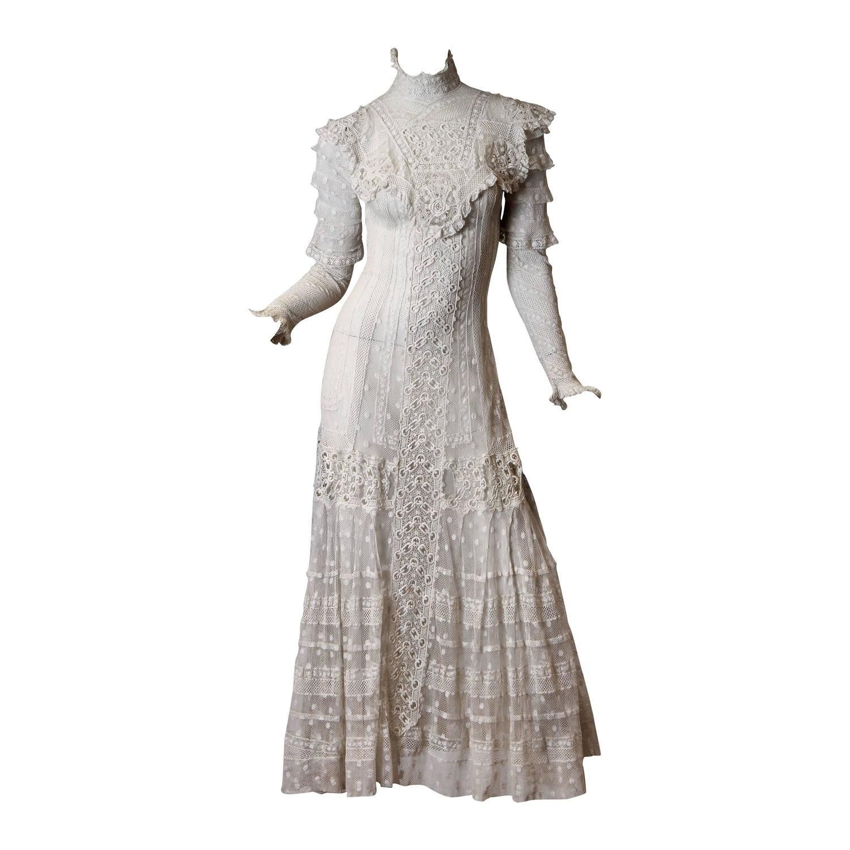 Late Victorian Lace Tea Dress | Pinterest