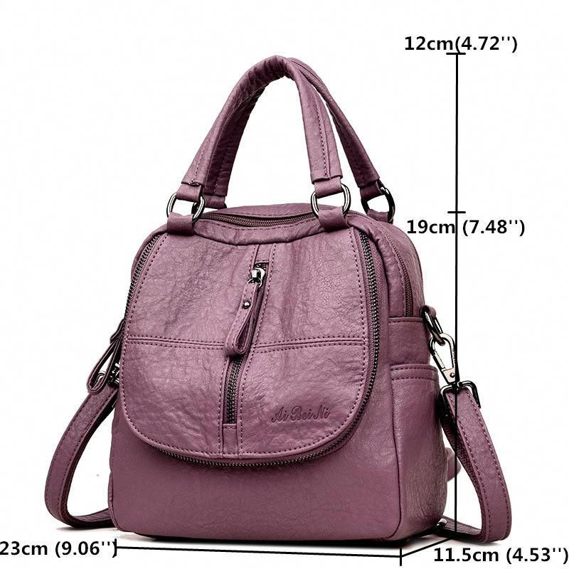 c46b0e80cef1 Hot-sale designer Women High-end Multifunction Soft PU Leather Handbag  Double Layer Large