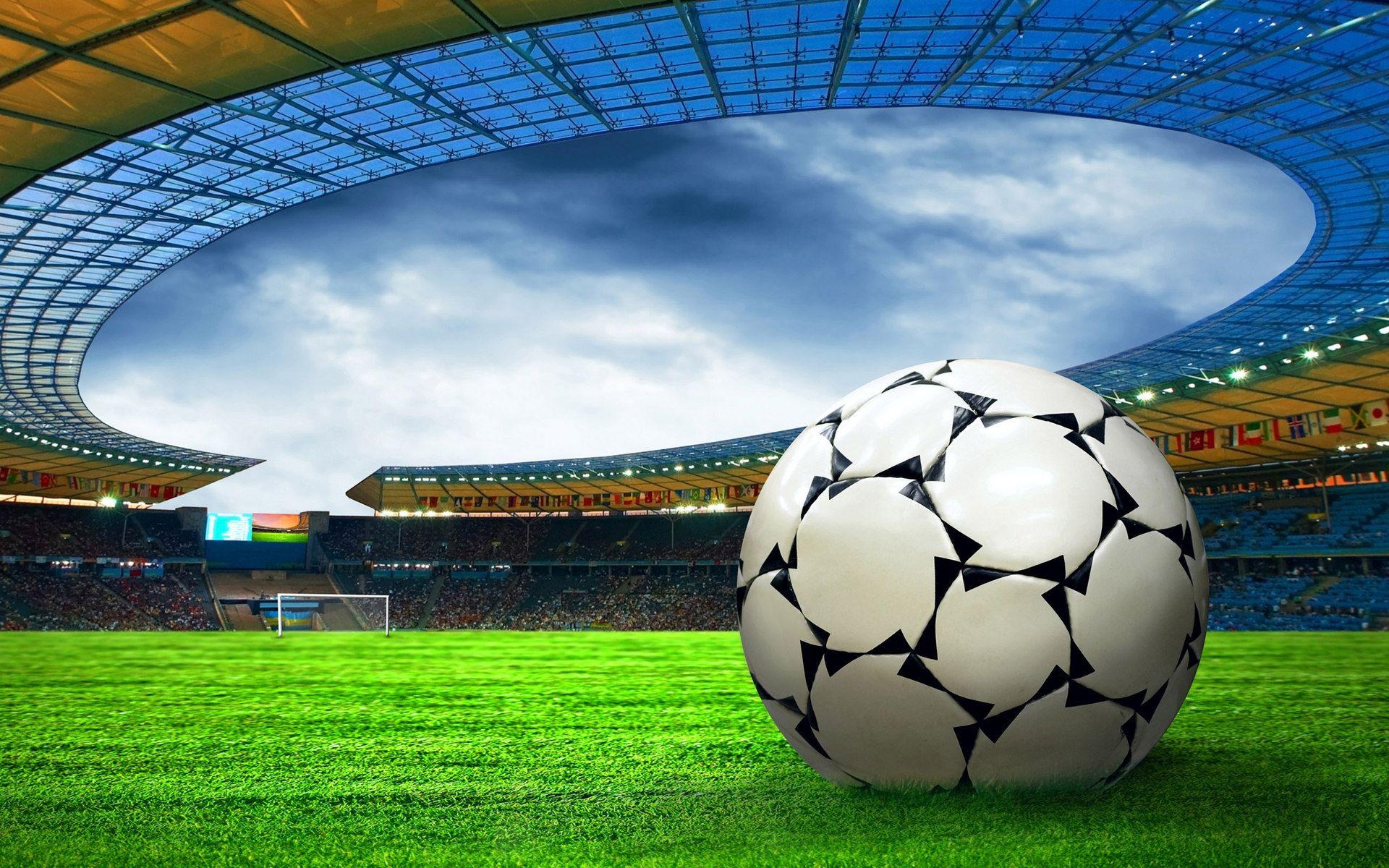 Sports High Resolution Wallpaper Soccer Ball Football Wallpaper Stadium Wallpaper