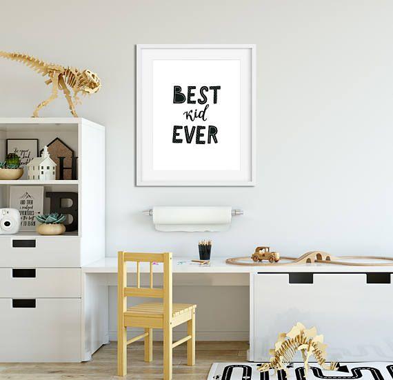 Favourite Scandinavian Nursery Kids Room Decor Items: Nursery Print Boy Girl Kids Poster Playroom Decor