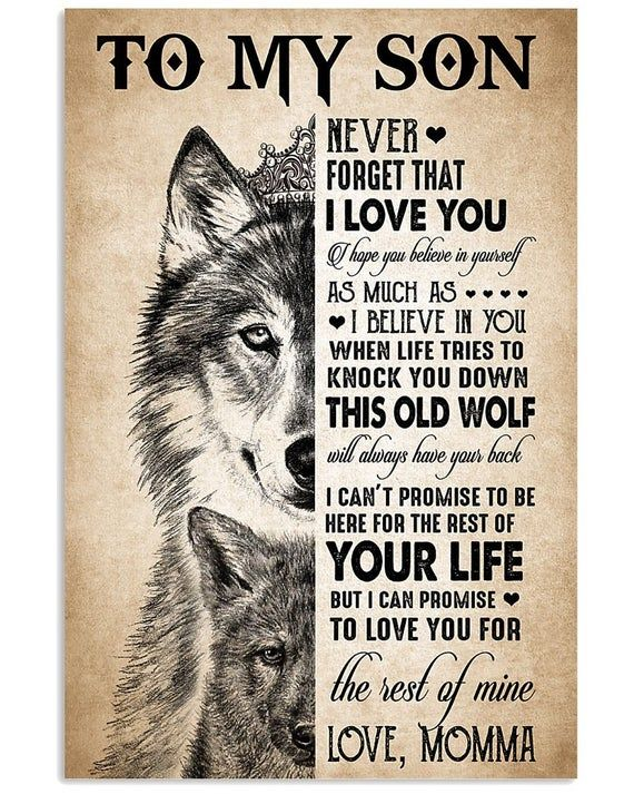 to my son. never forget that ilove you poster home decor wall art print 76