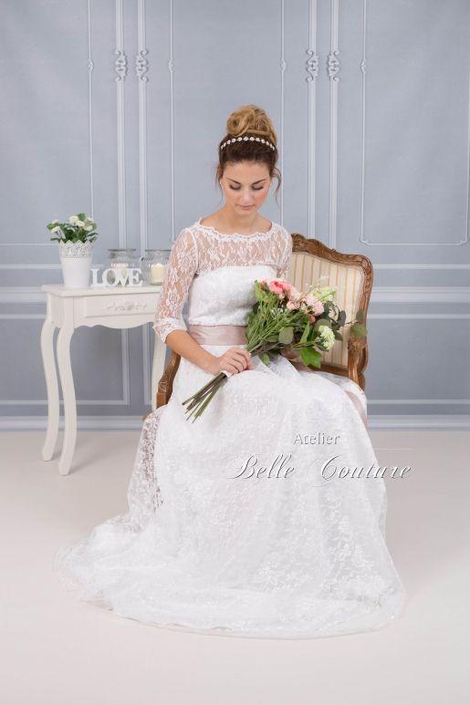 bodenlanges Brautkleid im Vintage Stil   Vintage stil, Brautkleid ...