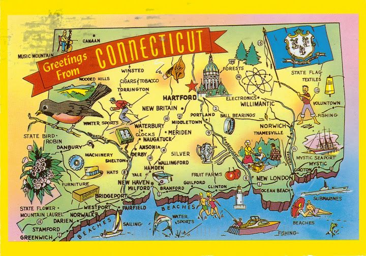 Connecticut map | road triping w kids | Pinterest | Authors