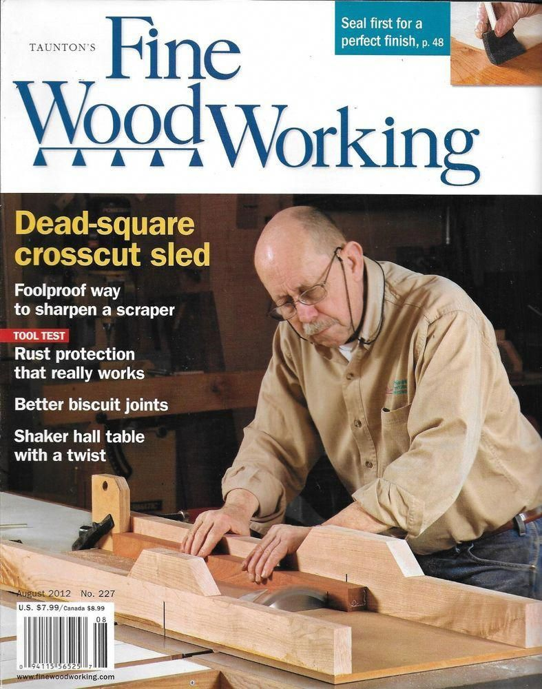 Fine Woodworking Magazine Crosscut Sled Perfect Seal Finish Biscuit