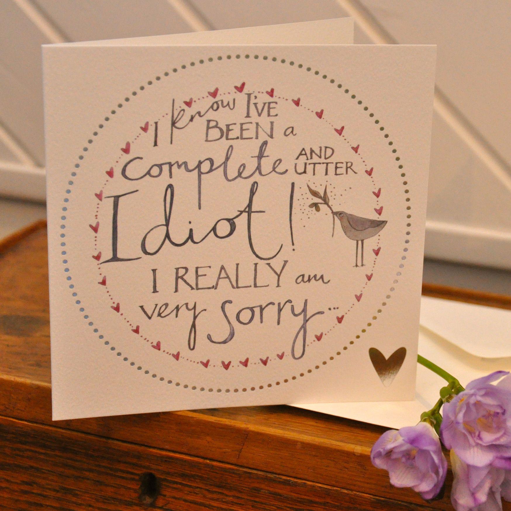 Sorry Card Tarjeta De Disculpas Pinterest Cards Diy Cards And