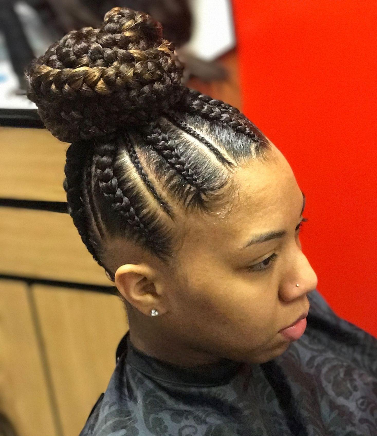 inspiring examples of goddess braids in hair styles