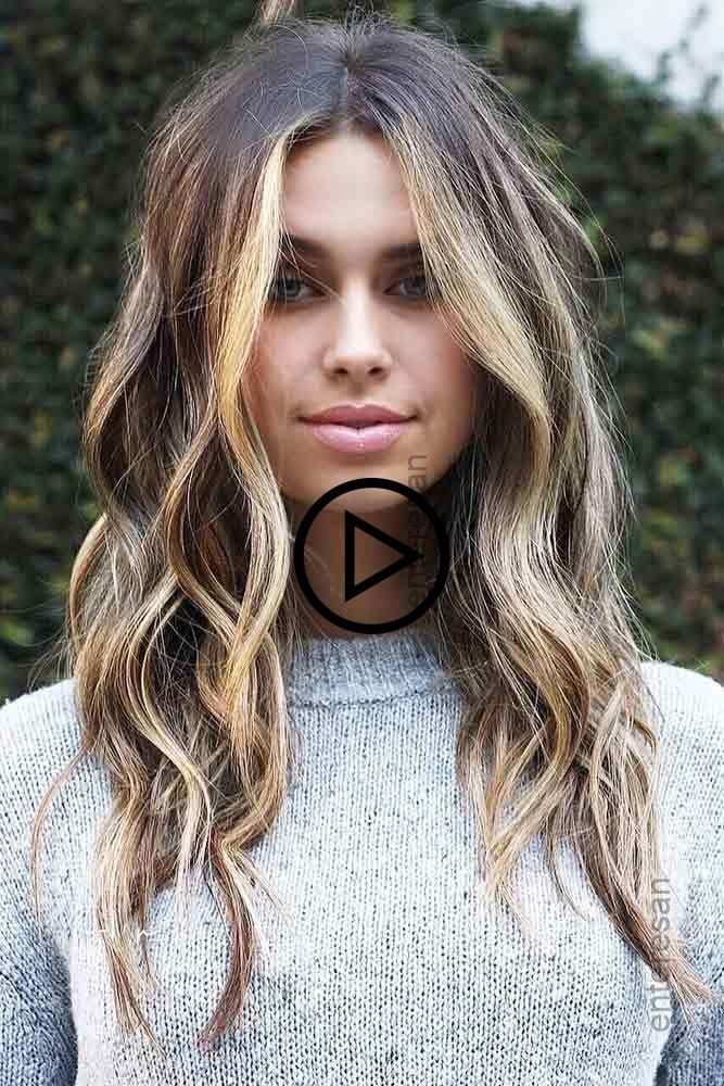 Braun Zu Blond Gesicht Rahmen Highlights Siehe