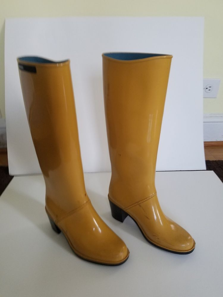 6e664ca39386 WOMEN S MARC JACOBS Yellow Rubber Knee-High Rainboots Size 6 1 2 EUR ...