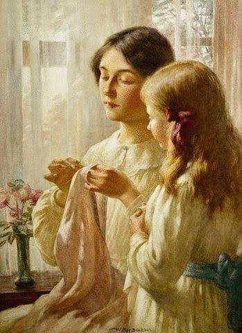 William Kay Blacklock British Artist 1872 1924 The Lesson Art Sewing Art Painter Blog