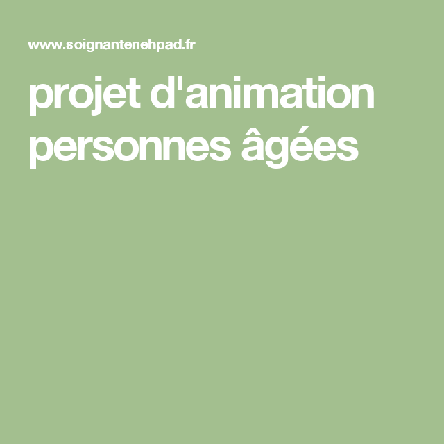 Projet d 39 animation personnes g es activit manuelle for Projet d animation cuisine