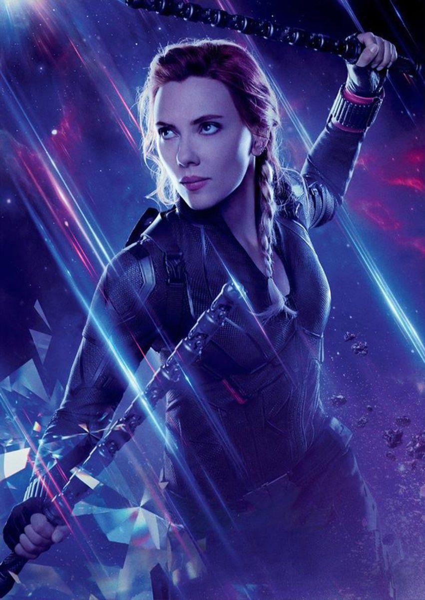 Avengers Endgame - Black Widow - Superhero – Poster - Canvas Print - Wooden Hanging Scroll Frame