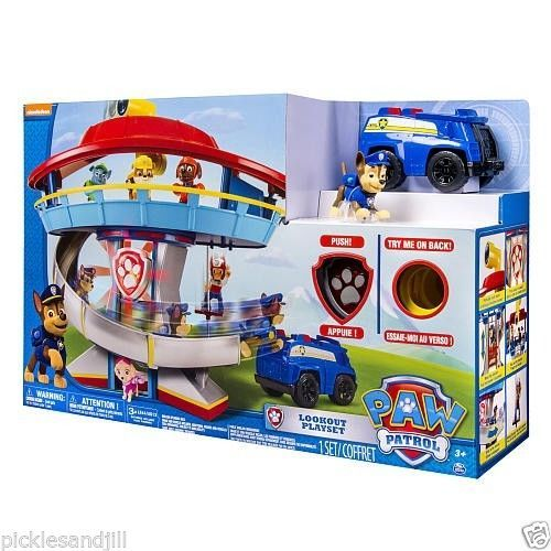 Chase /& Vehicle Paw Patrol Lookout Playset Tower Lights /& Sounds *BRAND NEW*