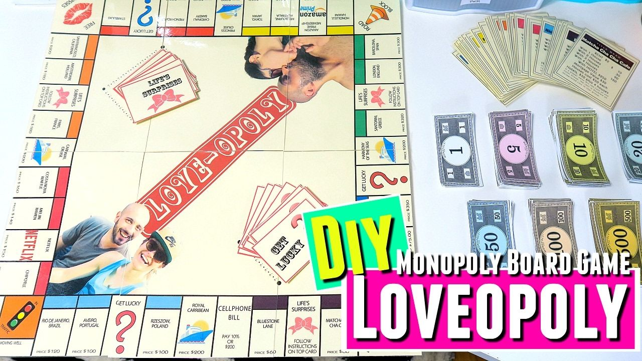 Lovopoly Board Game Diy Anniversary Gift Diy For Him Diy Gifts For Boyf Board Games Diy Anniversary Gift Diy Diy Anniversary Gift