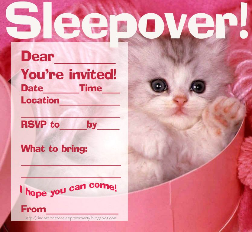 sleepoverslumberpartyfreeprintableinvitationjpg 834 767 – Free Printable Slumber Party Invitation Templates