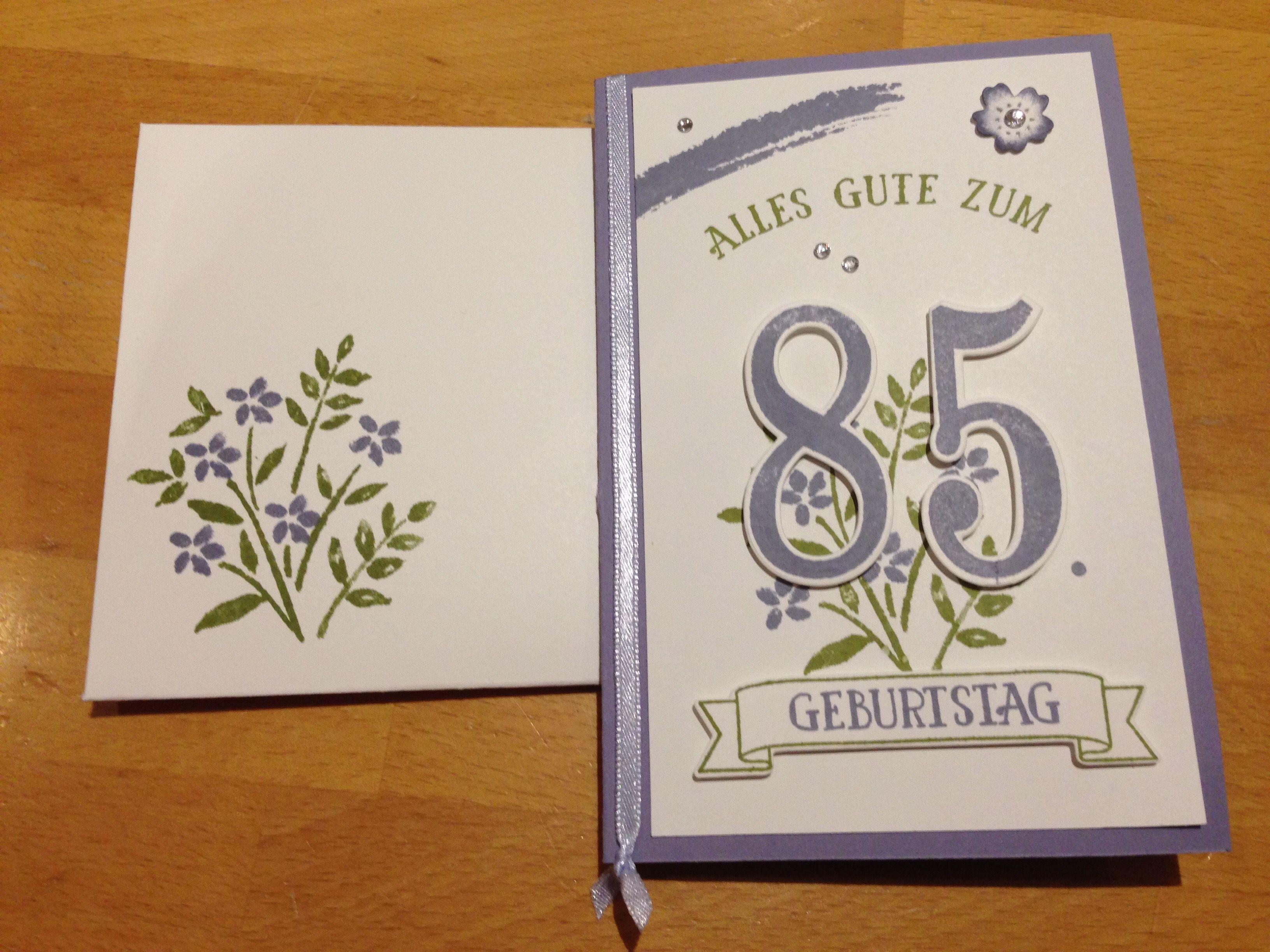Geburtstagskarte Zum 85 Geburtstag Stampinup Stempelset So Viele