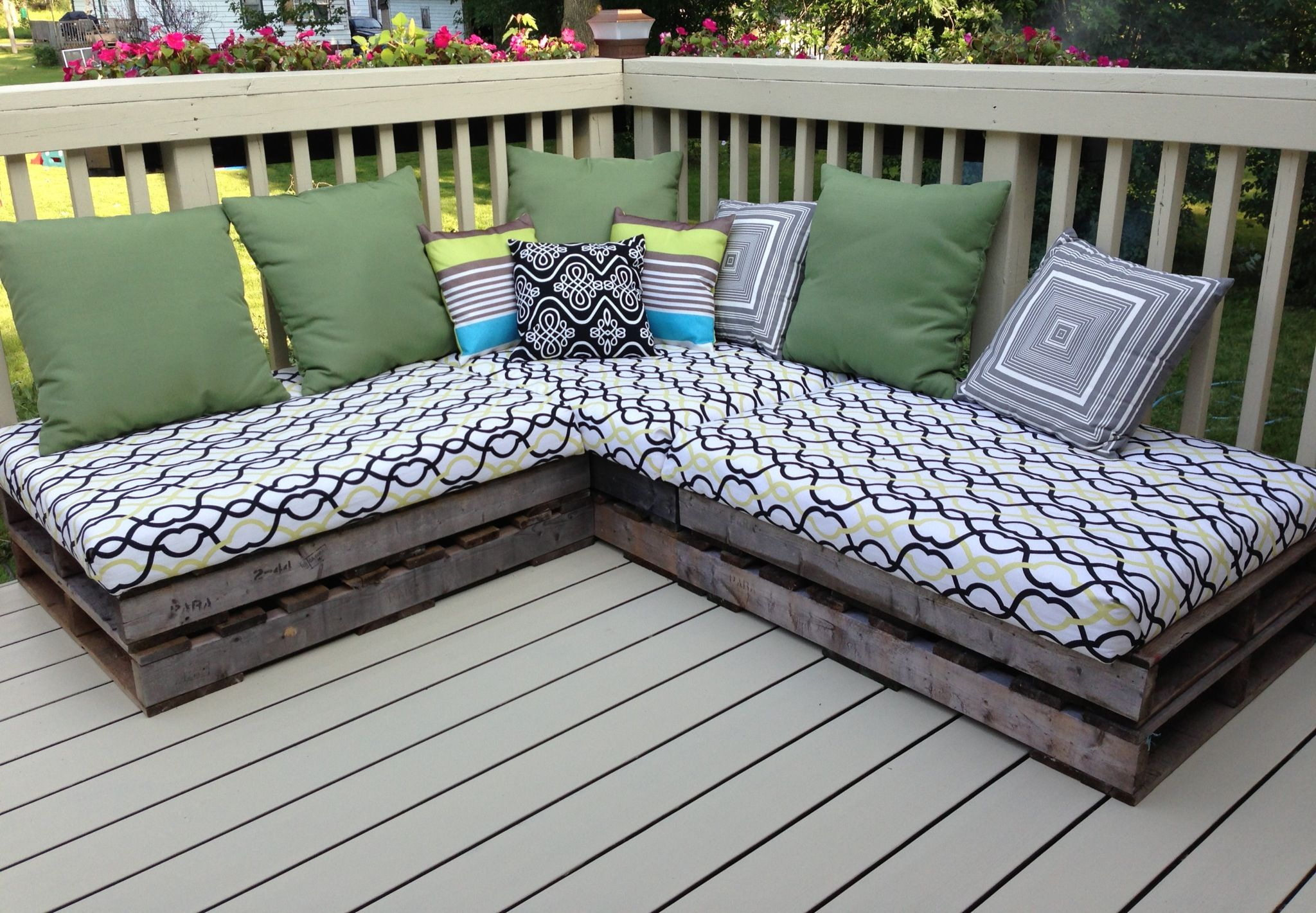 Pallet Couch. Year Two. Cushions Stored And