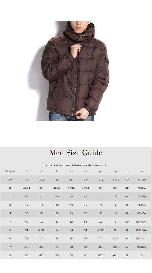 19 Elegant Moncler Mens Size Chart