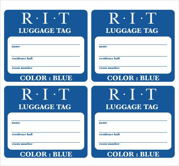 Suitcase  Luggage Tag Template    Tag Templates And Template