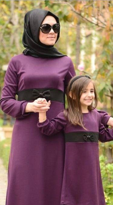 Dilber Tesettur Anne Kiz Kiyafetleri Moda Kadin Giyim Anne Kiz Kiyafetleri