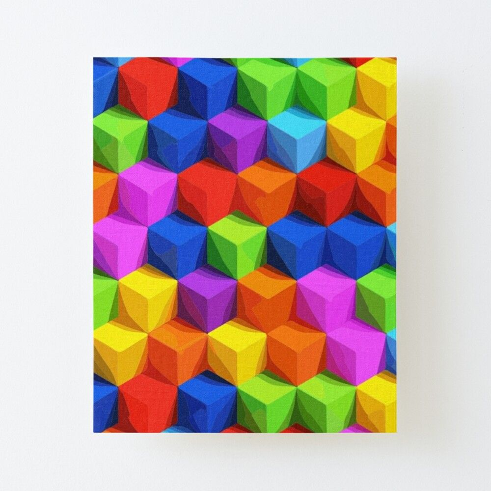 Get My Art Printed On Awesome Products Support Me At Redbubble Rbandme Https Www Redbubble Com I Canvas Print Colored Cubes By Art Master1 56537746 56dnm A