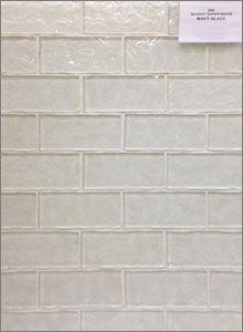 Glossy Super White Wavy Glass Mosaic Backsplash Tiles Tile