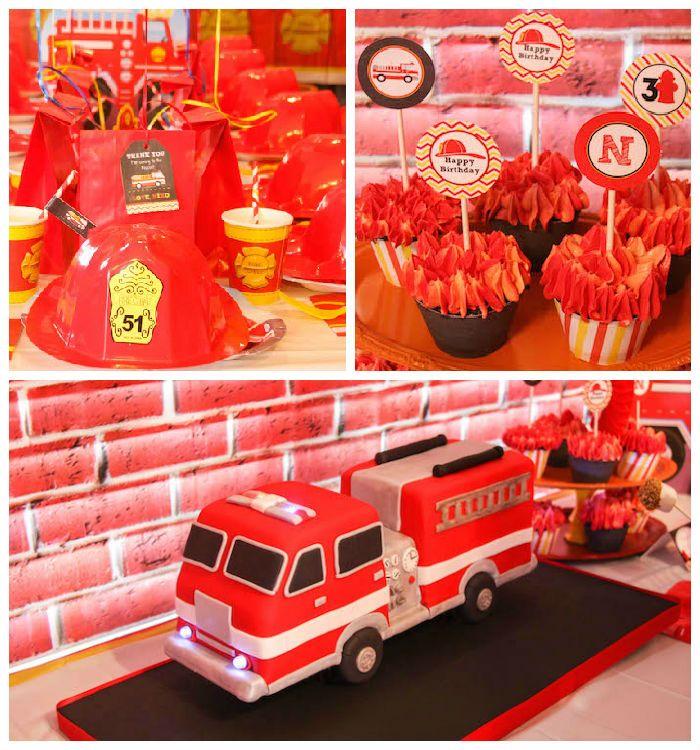 Firehouse Fireman Themed Birthday Party Firemen Birthdays and