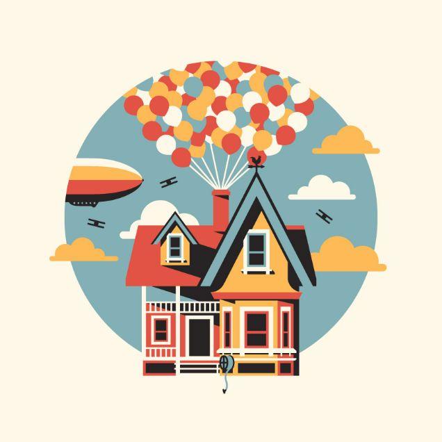 Up Pixar Illustration Up Pinterest Illustration Art And