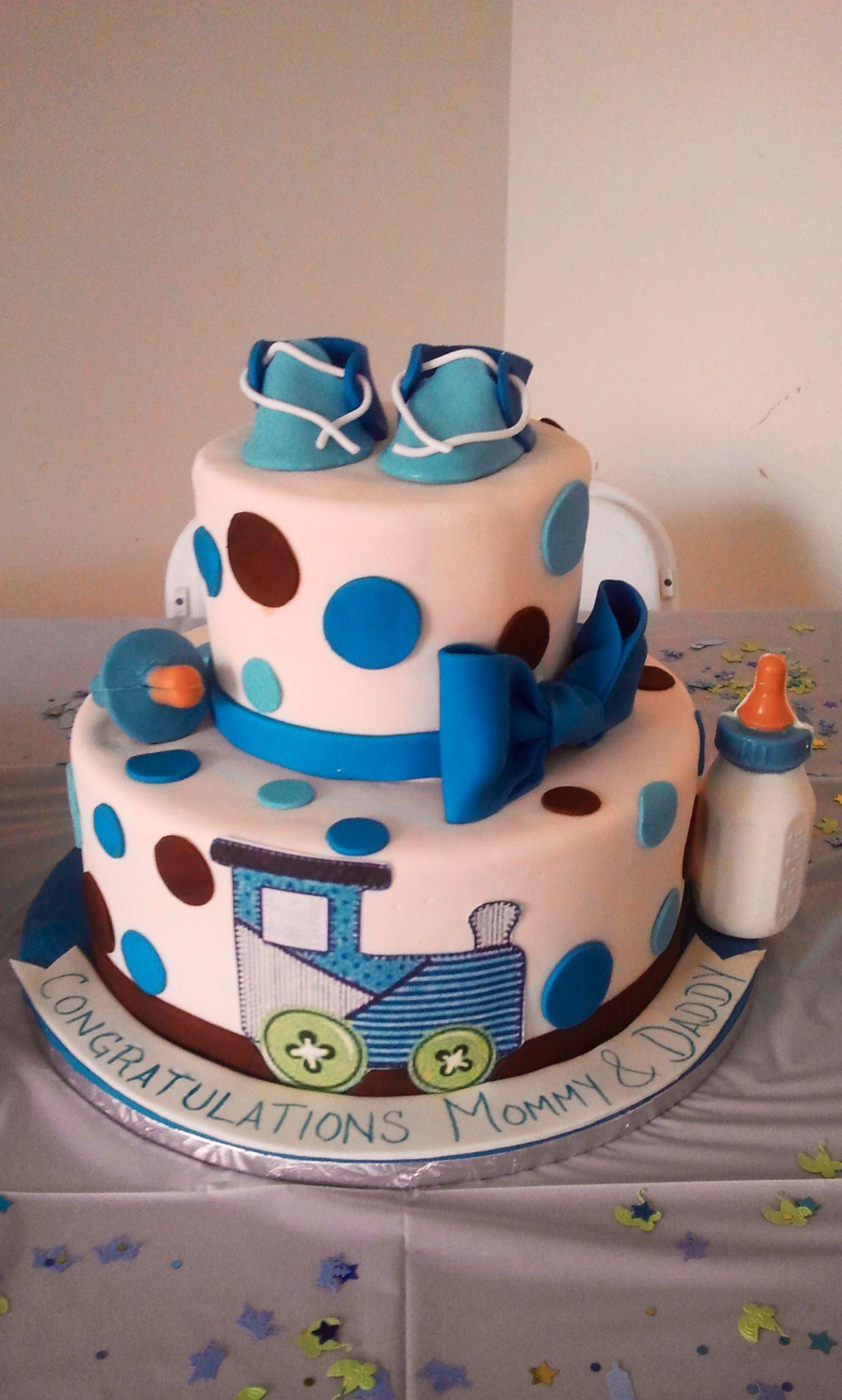 Nice Train Baby Shower Cake Part - 13: Choo Choo Train Baby Shower Cake
