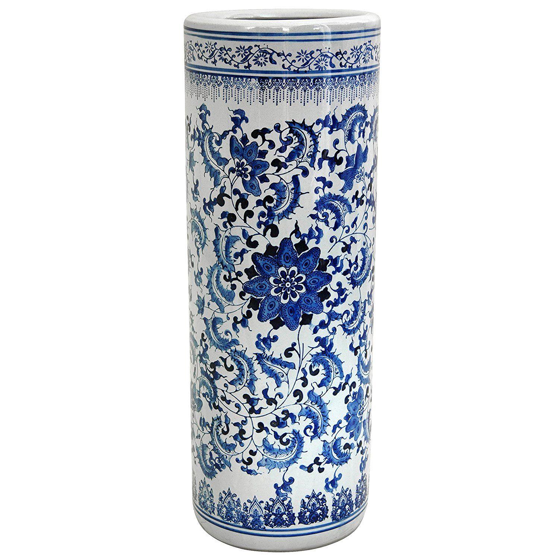 Oriental Furniture 24' Floral Blue  #HomeDecor