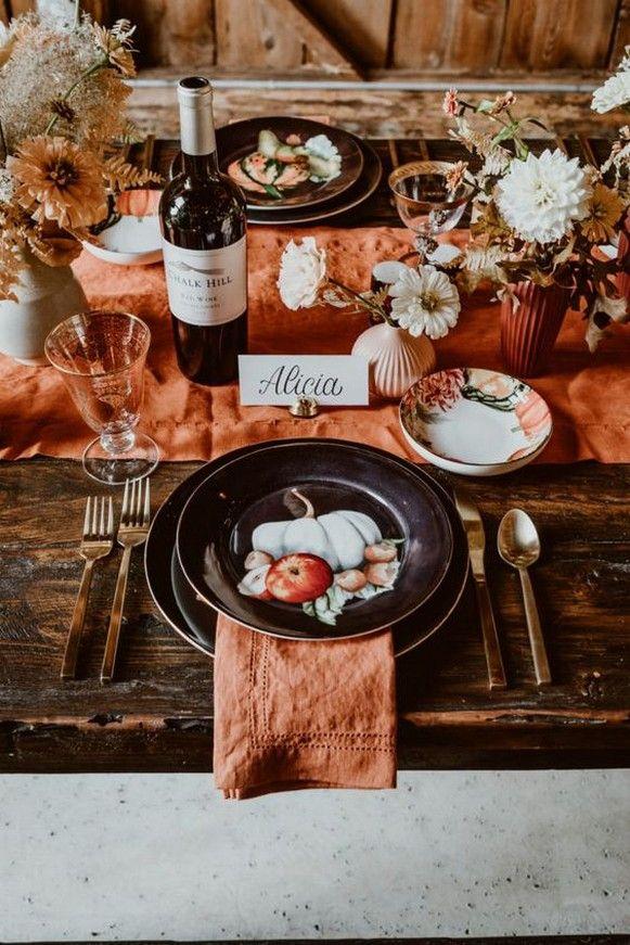 50 Stunning Thanksgiving Table Decoration Ideas 18 1 #thanksgivingtablesettings