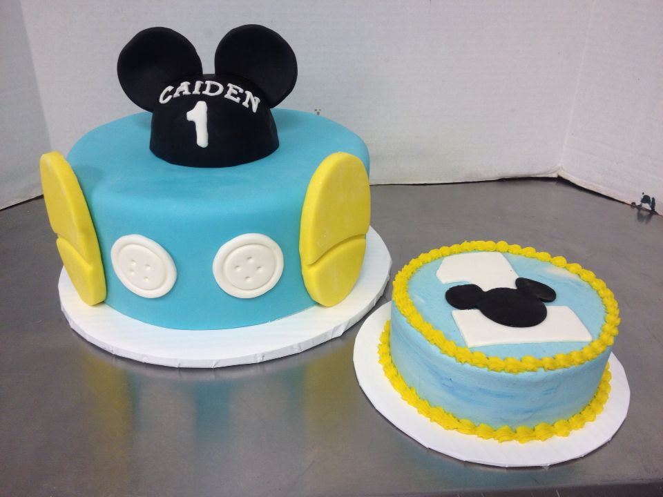 Incredible Mickey Mouse 1St Birthday In Blue With Ears And Matching Smash Funny Birthday Cards Online Hendilapandamsfinfo