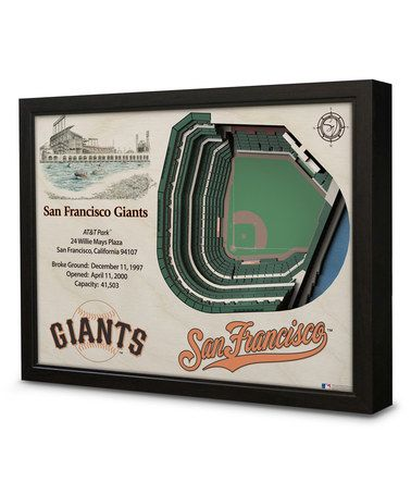 This San Francisco Giants AT&T Park Wall Art is perfect! #zulilyfinds