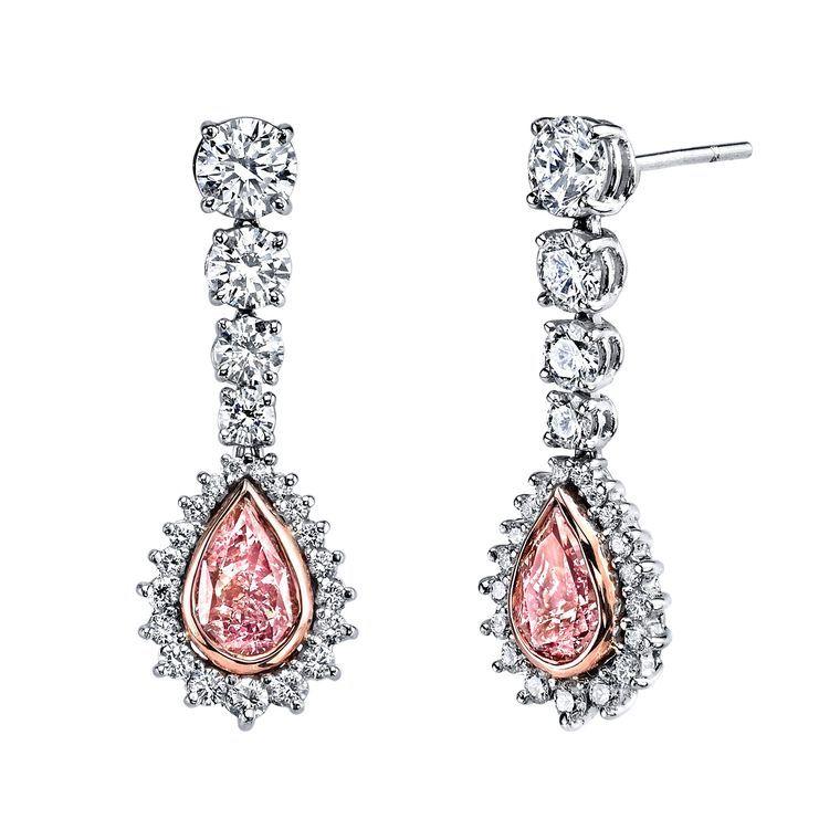 Harry Kotlar Heart Shape Diamond Drop Earrings rfvZckqK1