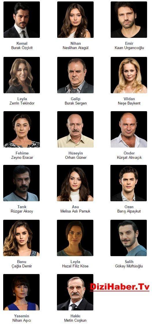 ناوی راسته قینه یان Kara Turkish Actors Celebrities