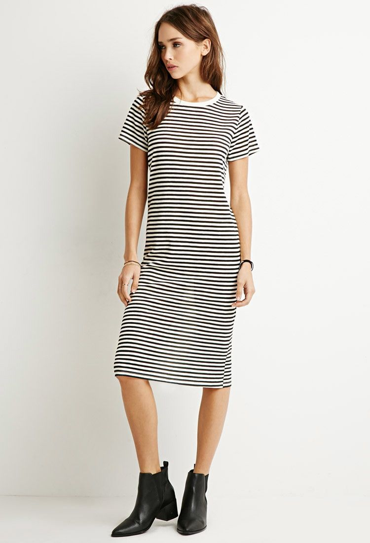a240bebb35 Classic Striped T-Shirt Dress | Forever 21 Canada | Wishlist in 2019 ...