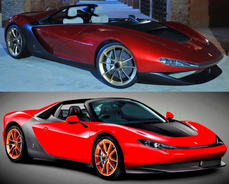 Concept To Reality 2013 Pininfarina Sergio Vs 2015 Ferrari Sergio