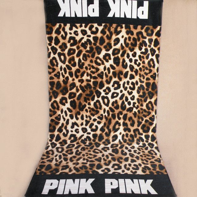 Fashion brand Leopard pink bath gym sports picnic home plane ...