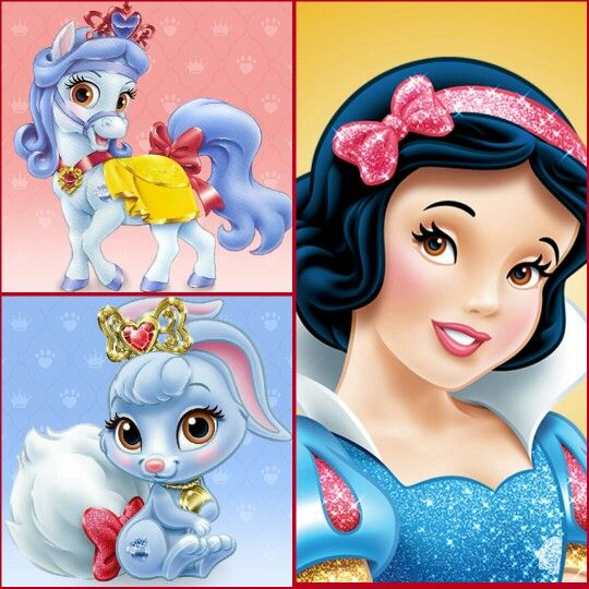 Snow White With Sweety Pony Berry Rabbit Disney Palace Pets Princesas Disney Personagens Disney Disney