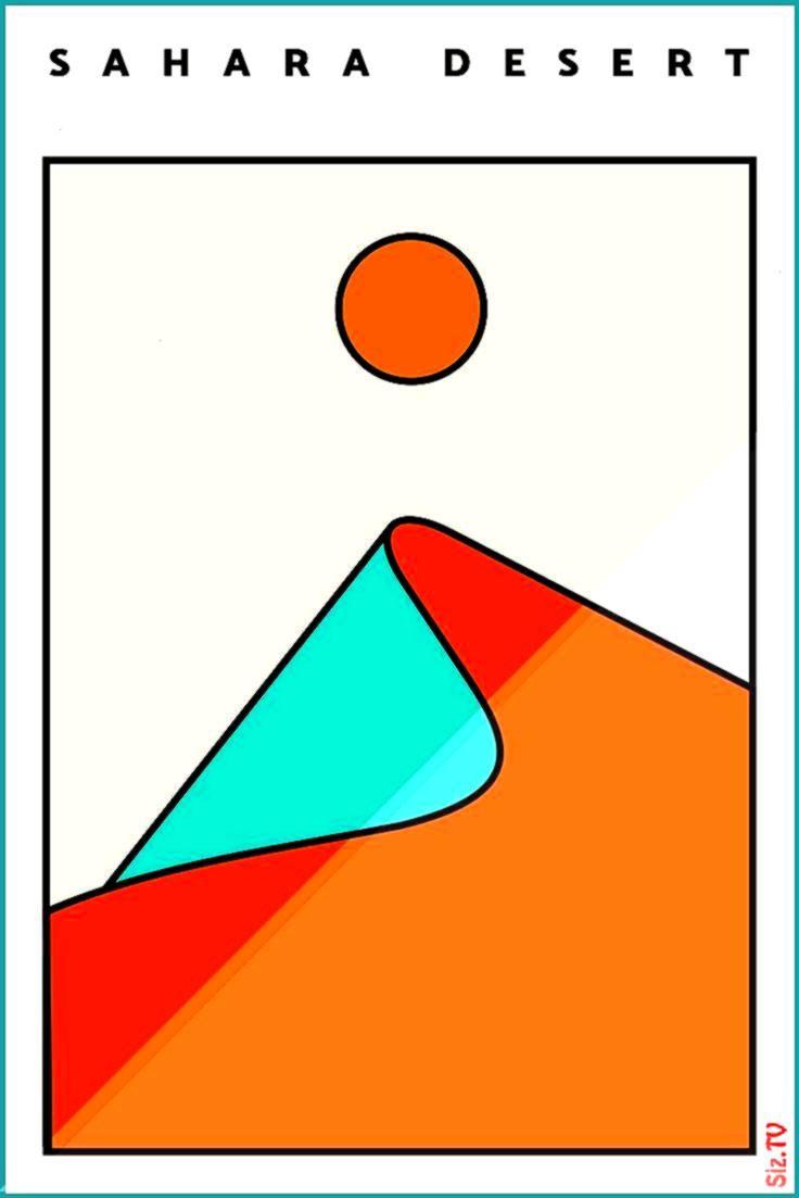 #minimalist #landscape #abstract #fitness #living #design #desert #hellip #sahara #modern #poster #o...
