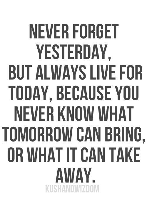 Live For Today Quotes Magnificent Employée Motivation Quotes Never Forget Yesterday But Al  A